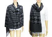 Fashion Hound Tooth Pashmina Black / Grey