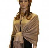 Paisley Jacquard Shawl Golden Light Brown