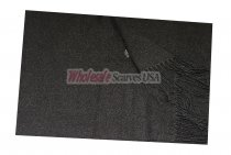 Woven Plain Scarf Charcoal