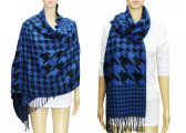 Fashion Hound Tooth Pashmina Blue