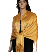 Super Solid Pashmina Gold