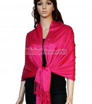Super Solid Pashmina Hot Pink