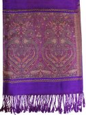Wholesale Paisley Heart Pashmina Purple