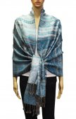 Geometry Pattern Scarf BH1805 Light Blue