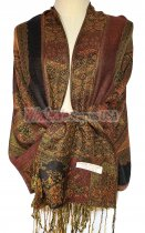 Paisley Flower Shawl Brown