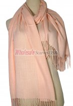 Silky Light Solid Pashmina Peach