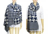 Fashion Hound Tooth Pashmina Navy