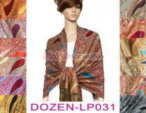 Thicker Paisley Shawl 1 DZ, Asst. Color