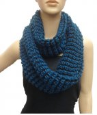 Wholesale Infinity Twist Scarf Teal