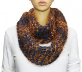 Infinity Fluffy Knit Scarf Navy