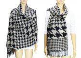 Fashion Hound Tooth Pashmina Black / White