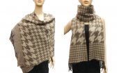 Fashion Hound Tooth Pashmina Brown